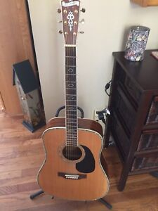 Blue ridge flat top guitar