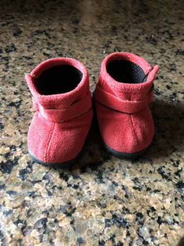 American Girl Doll Lindsey Lindsay Meet Boots Red Booties Shoes - $24.99