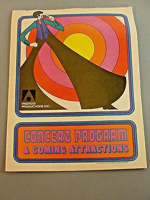 CONCERT PROGRAM TRIANGLE PRODUCTION FALL 1972 CHICAGO 7UP UNCOLA DEEP PURPLE VTG