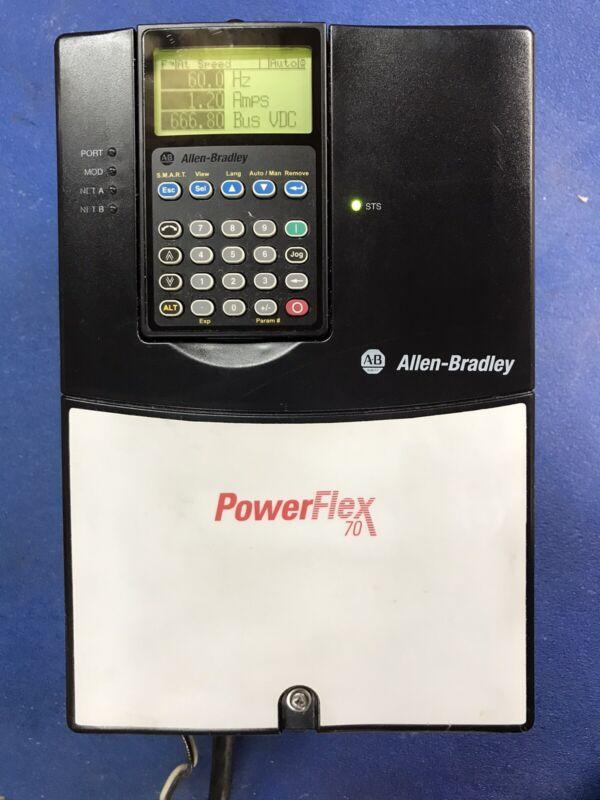10 Hp ALLEN BRADLEY POWERFLEX 70 20AD014A0AYYANC0 MFG 3/20/2013 Tested