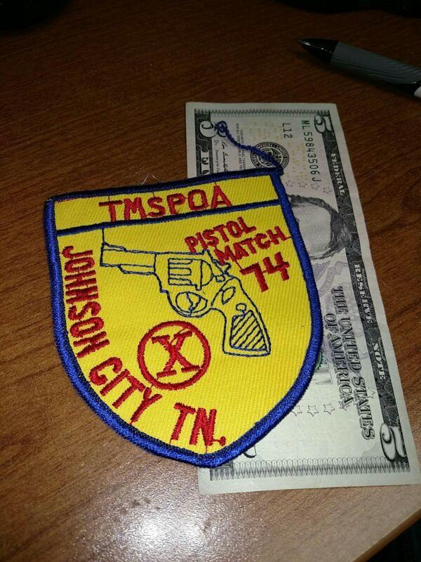 Vintage Johnson City Tennessee Pistol Match Police Patch New Old Stock