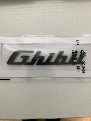 Maserati Ghibli Emblem Black Logo Trunk Lid Emblem Badge Sticker On Sale