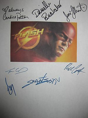 The Flash Signed TV Script X7 Grant Gustin Candice Patton Danielle Panabaker rpt