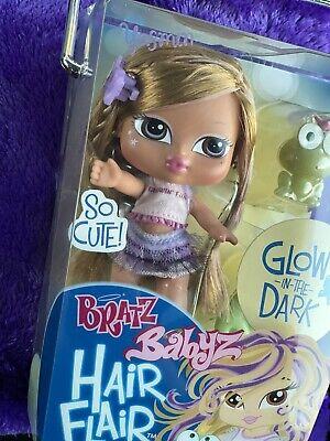 Bratz Babyz Baby Doll GLOW IN THE DARK Hair Flair YASMÍN RARE Toy MGA NEW
