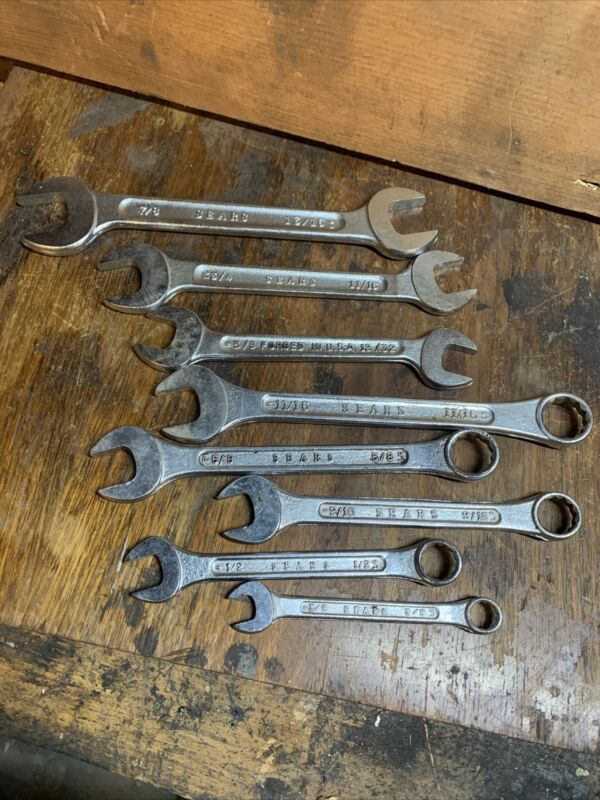 Sears open and closed end wrench set