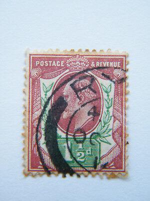 GB 1902 KEVII 1 1/2d Purple/Green Used.