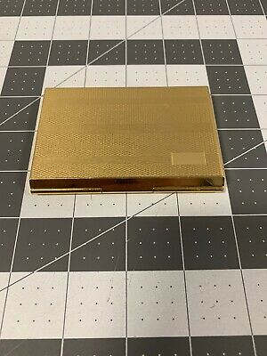 Vintage Colibri Card Holder And Solar Calculator Gold Tone Metal Used