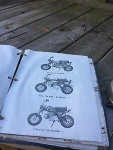Old Honda 50 workshop and parts manuals and some parts