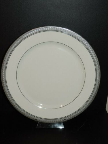 """LOVELY MIKASA PALATIAL PLATINUM 10 3/4"""" DINNER PLATE, 12 AVAILABLE"""