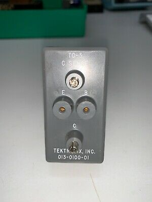 Tektronix 013-0100-01 Test Fixture For 576 577 Curve Tracer