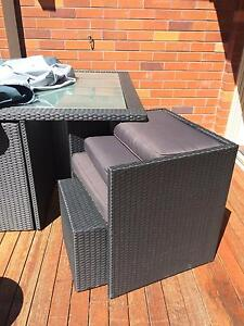 New Euro 9pc PE Wicker Outdoor Garden Furniture Dining Table Blk Balgowlah Manly Area Preview