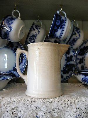 Antique White Ironstone Milk Pitcher K T and K China
