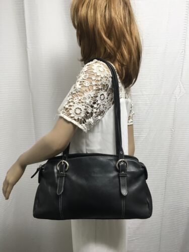 Tignanello black leather purse bag shoulder bag
