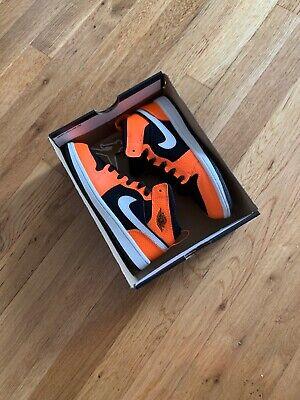 Nike Air Jordan 1 Retro Mid Youth Size 2Y Shoes Black Orange 640734-062