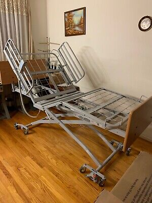 Drive Medical Electric Twin Size Hospital Bed With Mattress Mattress Topper.