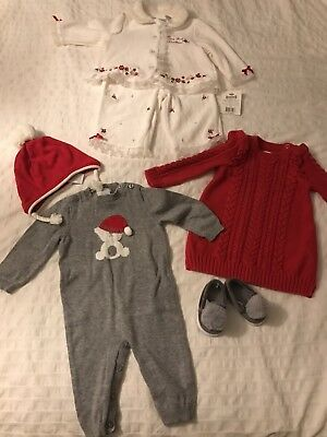 Christmas Outfit Baby Girl 3-6 Gap, Tahari, Littel Wonders](Christmas Girl Outfit)