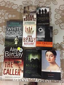 Fiction books (horror, suspense, mystery and thriller)
