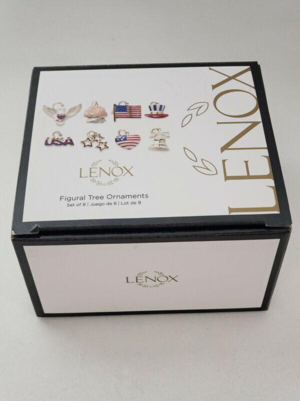 Lenox Figural Miniature 4th of July Tree Ornaments Set of 8