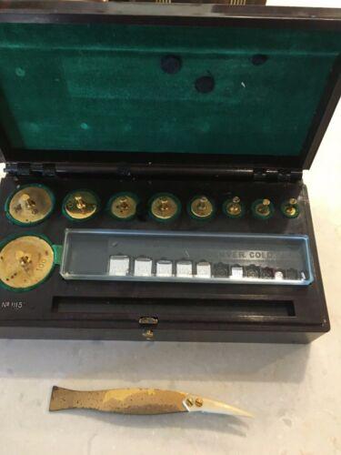 AINSWORTH scale weight set .5g-100g (17 weights +tweezers)