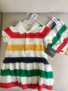 NEW WITH TAGS! The Bay classic stripes baby girl dress