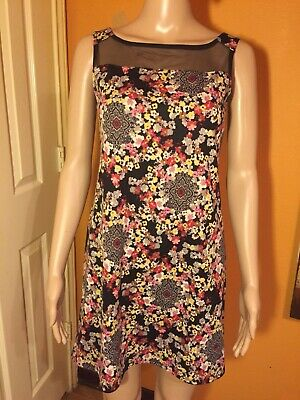 summer cocktail dress S/MFloral Cotton Stretch High Quality Excellent Condition](High Quality Dress)