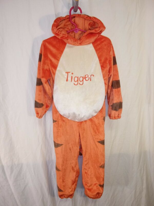 Disney Baby Tigger Halloween Costume Back Zipper Soft Warm Cozy sz 48M - 4T