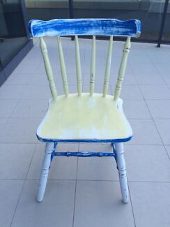 Shabby chic wooden dining chairs Chatswood West Willoughby Area Preview
