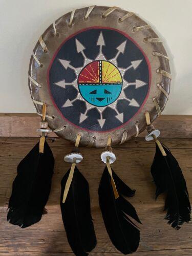 Authentic Navajo Native American Rawhide Shield w/COA
