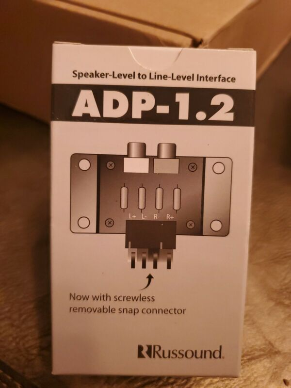 Russound ADP-1.2 Speaker Level to Line Level Adapter - NEW IN BOX!