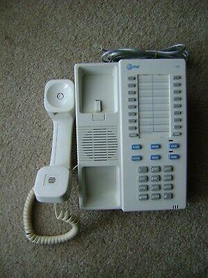 Vintage Used Beige AT&T Desk Speaker Phone Model 725  Owners Manual included