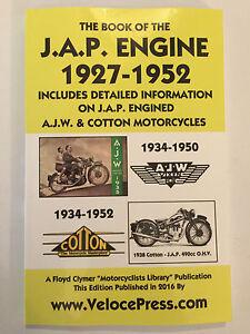 JAP MOTORCYCLE ENGINE MANUAL all 4-STROKE 150cc>1323cc + AJW & COTTON 1927-1952