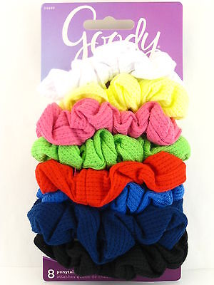 GOODY OUCHLESS RIBBED HAIR SCRUNCHIES - 8 PCS.  (04449)