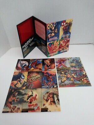 ONE LOT OF (3) MARVEL UNCUT PROMO SHEETS 1995/1996