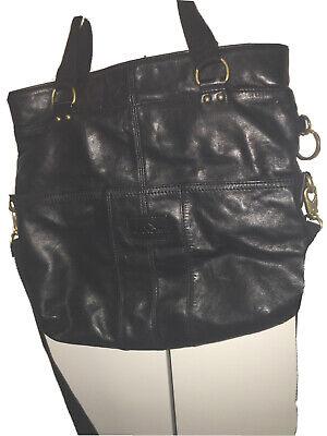 Kipling  large  black leather bag tote