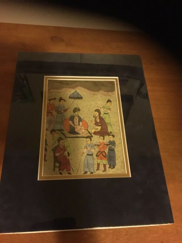 Ottoman Empire Persian Arabic Water Color Painting 18/19 Century Matted