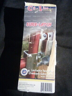 Co-line Sure-latch Lockable Two-way Livestock Gate Latch R-158-2l New Ss