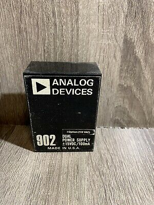 Vintage Analog Devices 902 Dual Power Supply - 15 Vdc 100ma New Old Stock Nos