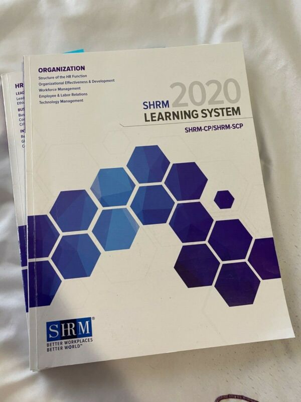 2020 SHRM-CP/SCP Learning System Books!