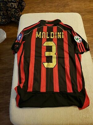 ⚽️ Adidas Maldini #3 AC Milan ACM 2007 Final Champions League Jersey Mens Medium