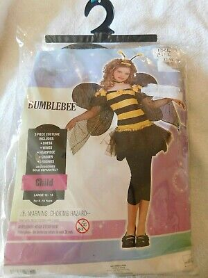 Bumble Bee Costume Kids (Bumblebee Bee Princess Costume 5 Piece New Childs Size Large 12-14 New)