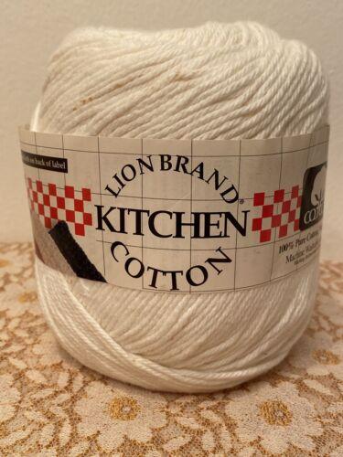1 LION BRAND KITCHEN COTTON WHITE 5 OZ / 236 YDS 100 COTTON NEW MADE IN USA - $9.99