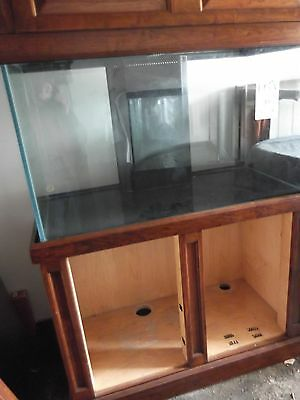 DSA 135G Pro Glass Aquarium Salt Fresh Water Tank w/Cherry wood Stand & Canopy