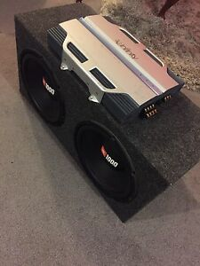 "^** TWO 12"" JBL 1000 WATTS EACH 1500 WATT AMP!!"
