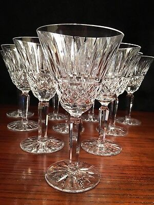 9 Waterford Crystal Water Goblets - 6 7/8