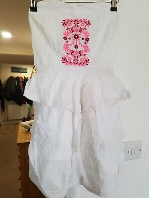 Superdry Size XS White Embroidered Dress