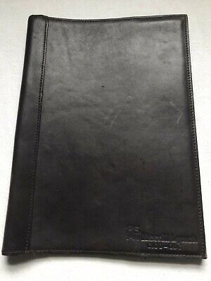 Merrill Lynch Note Pad Holder Leather Cover By Hidesign