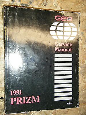 1991 Chevrolet Geo Prizm Factory Service Manual Shop Original