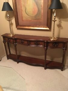 """Hooker furniture console table 12""""deep 72""""L35""""H"""