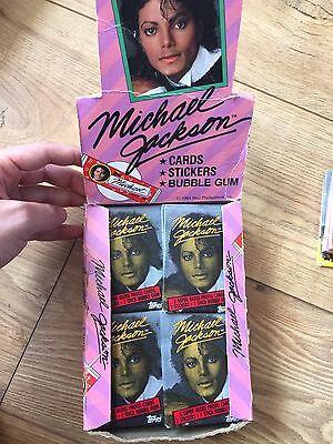 1984 TOPPS MICHAEL JACKSON TRADING CARDS BOX 32+ WAX PACKS