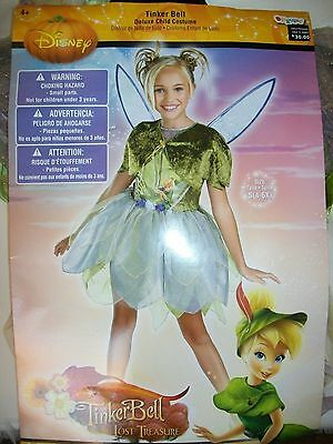 NEW Disney Tinkerbell Tink Lost Treasure Girl Costume size 4-6x Dress Up - Lost Girl Kostüm